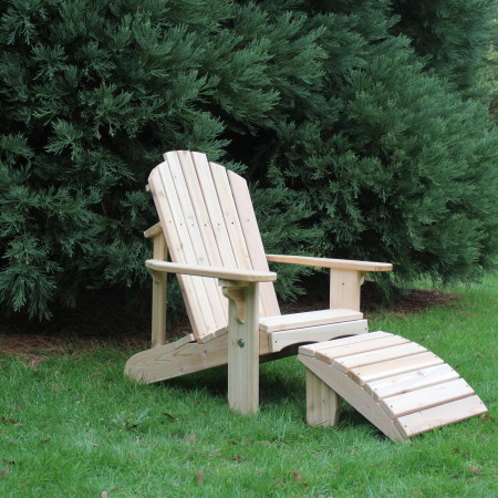 Classic Adirondack Chair with footrest